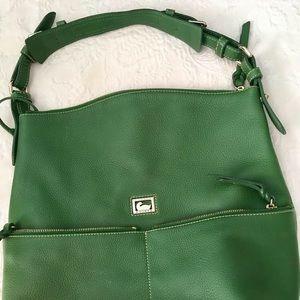 NWT Dooney & Bourke Green Tote Hobo Shoulder Bag
